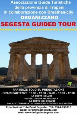 EVERY DAY SEGESTA HIGHTLIGHTS - SHUTTLE REGULAR DAILY DEPARTURE FROM PALERMO TIME DEPARTURE 09.00 AM OR 15,00 PM - EURO 40.00 P.P.