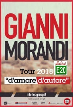 Gianni Morandi in Concerto Live ad Acireale In Bus Sharing Partenza: Palermo - Villabate - Bagheria - T.Imerese - €.25.00