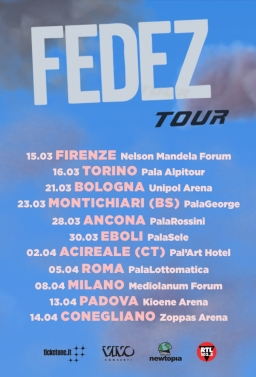 Fedez in Concerto Live ad Acireale In Bus Sharing Partenza: Palermo - Villabate - Bagheria - T.Imerese - €.25.00